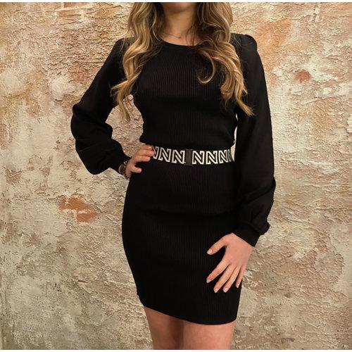 Nikkie Plum Dress Black