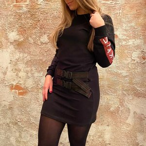 Nikkie Buckle Dress Black