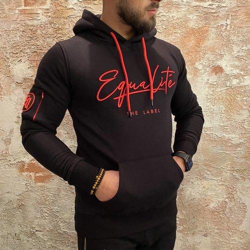 Equalite Signature Hoodie Black & Red