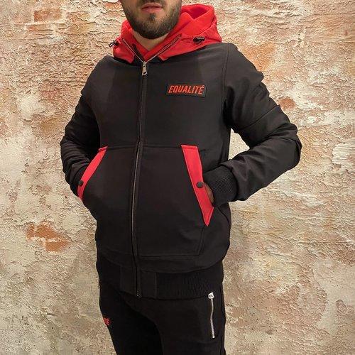 Equalite Soft Shell Jacket Black & Red