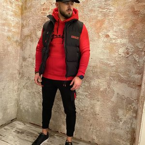 Equalite Cargo Sweat pants Black & Red