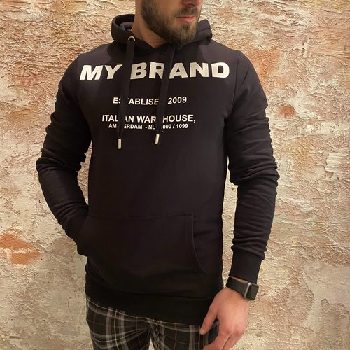 MyBrand MyBrand Branding Italian Hoodie zwart