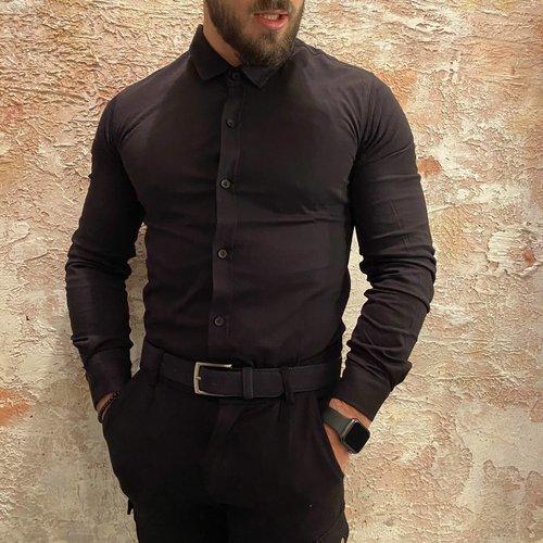 Purewhite Jersey Overhemd Black