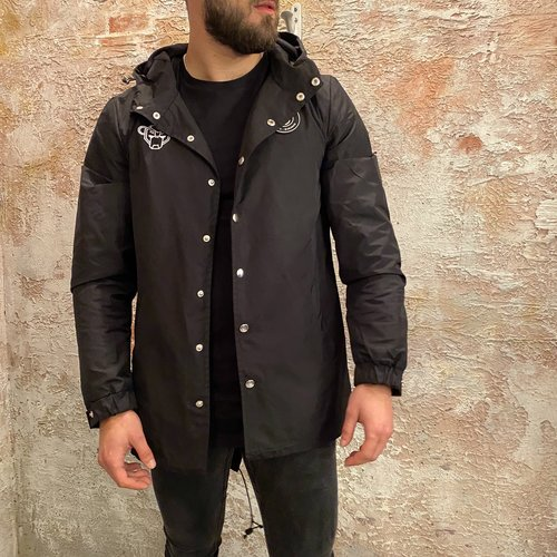 Black Bananas Porto Parka jacket zwart