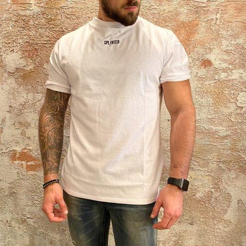 Splinter losse fit logo t-shirt wit