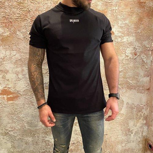 Splinter losse fit logo t-shirt zwart