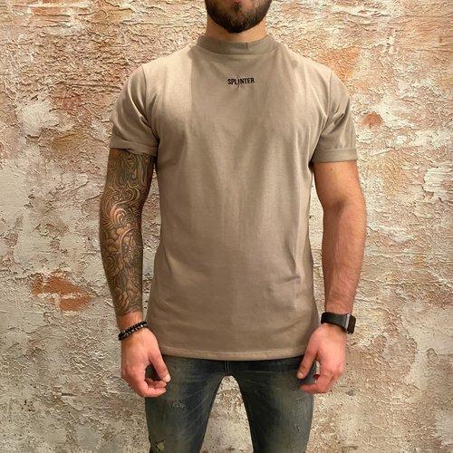 Splinter losse fit t-shirt camel