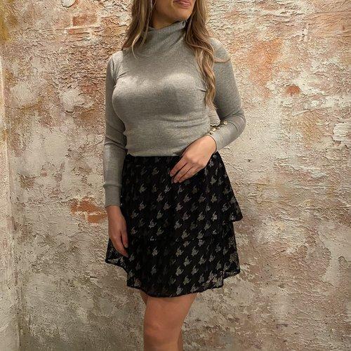 NAKD Frill mini skirt zwart