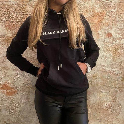Black Bananas Anorak Style Hoody zwart