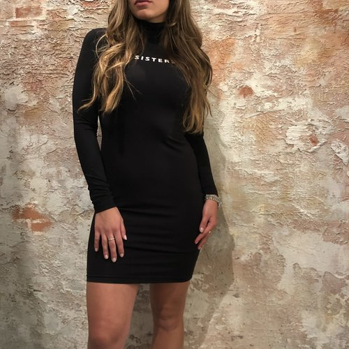 LA Sisters basic stretch dress zwart