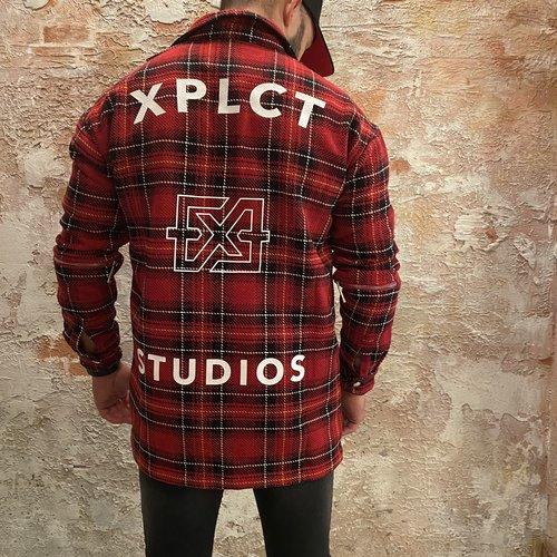 Xplct Xplct flanel overshirt red