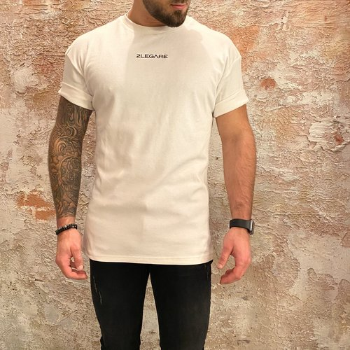 2LEGARE 2Legare Solid oversized t-shirt wit