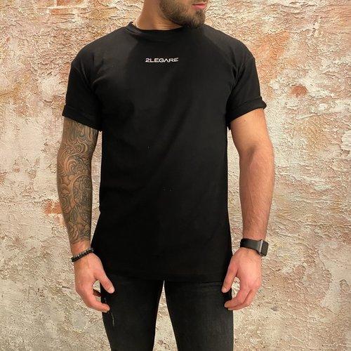 2LEGARE 2Legare Solid oversized t-shirt zwart