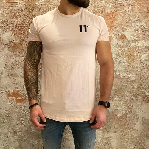 11 degrees Muscle fit t-shirt pink