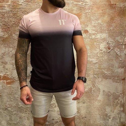 11 degrees Fade  t-shirt pink