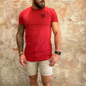 11 degrees Muscle fit t-shirt rood