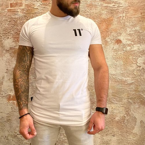 11 degrees Muscle fit t-shirt wit