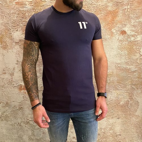 11 degrees Muscle fit t-shirt navy