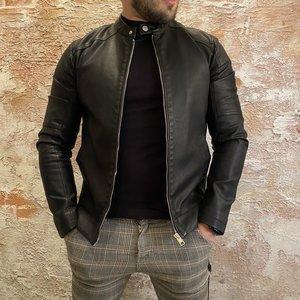 Solid PU jacket zwart