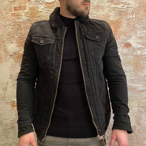 Purewhite Purewhite Denim jacket zwart