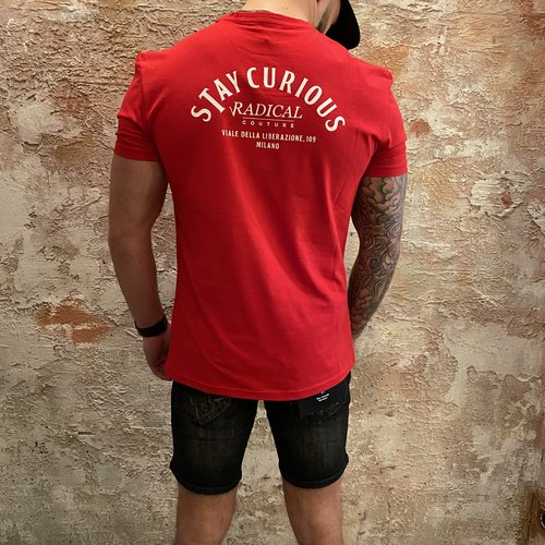 Radical Stay Curious t-shirt red