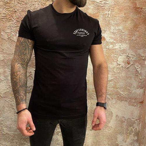 Radical Stay Curious t-shirt zwart