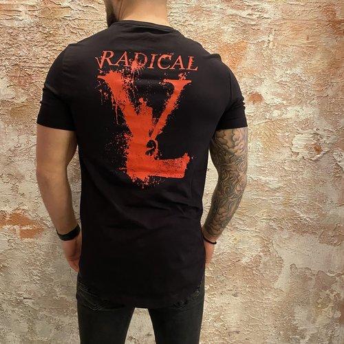 Radical t-shirt melting gun black red