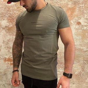 Purewhite T-shirt Army green X tee