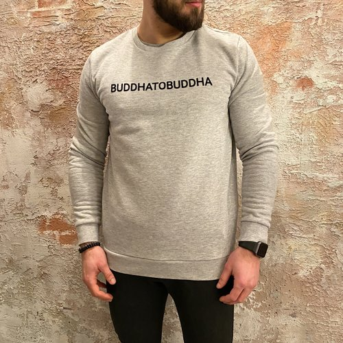 BuddhatoBuddha Sweater logo grey