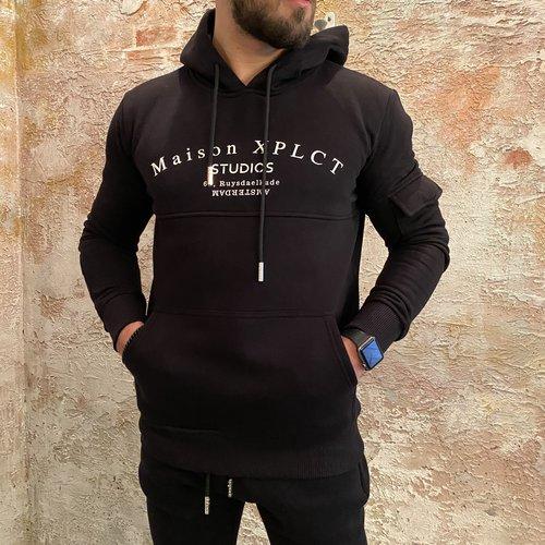Xplct Studio hoodie zwart