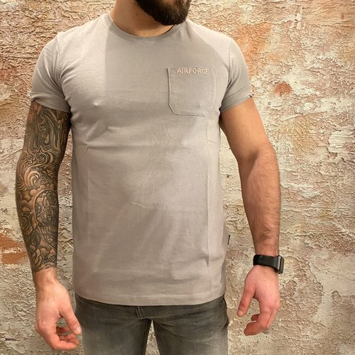 Airforce Airforce Chest Pocket tee grey