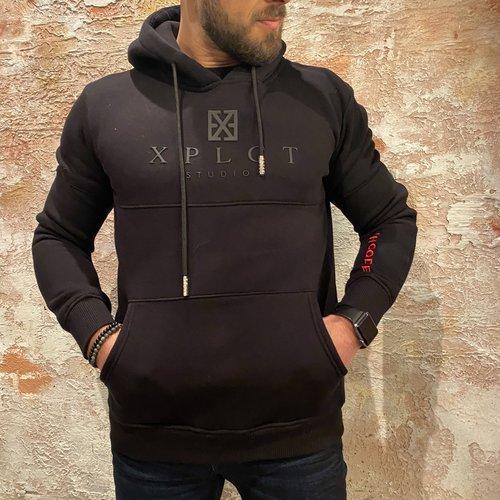 Xplct Brand hoodie zwart