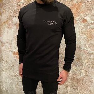 Xplct Zip sweater zwart