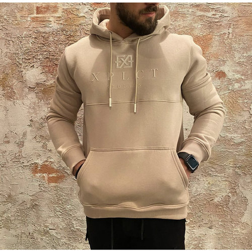 Xplct Brand Hoodie beige