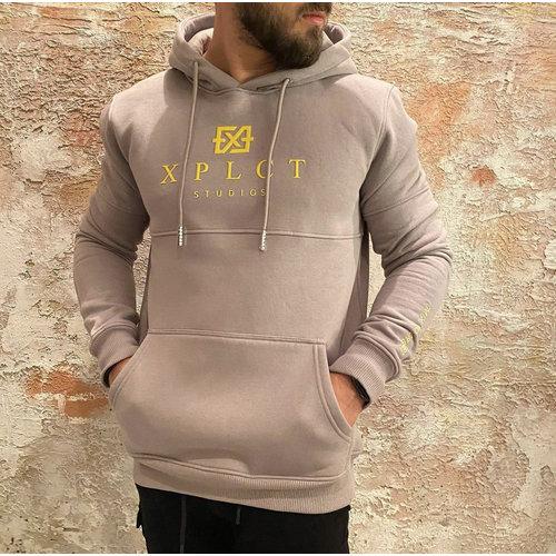 Xplct Brand Hoodie grey