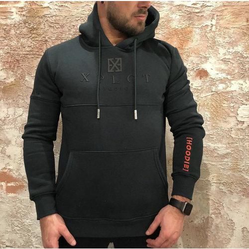 Xplct Brand hoodie groen