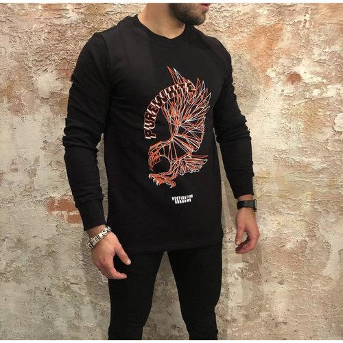 Purewhite Eagle sweater zwart