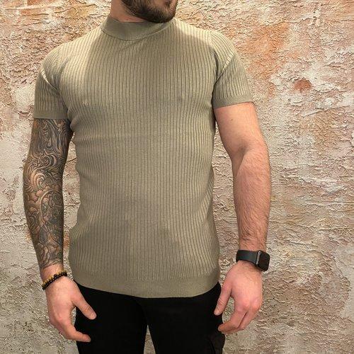 Purewhite Stripe Pullover Lt Army