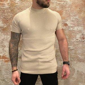 Purewhite Stripe Pullover Sand
