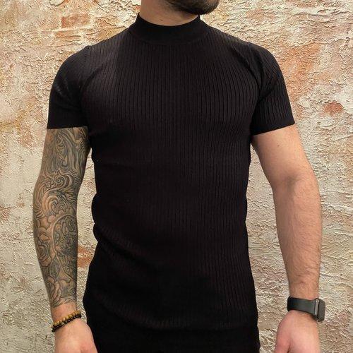 Purewhite Stripe Pullover Black