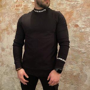 Purewhite Sweater Logo Black