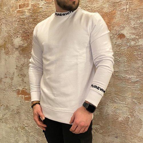 Purewhite Sweater Logo White