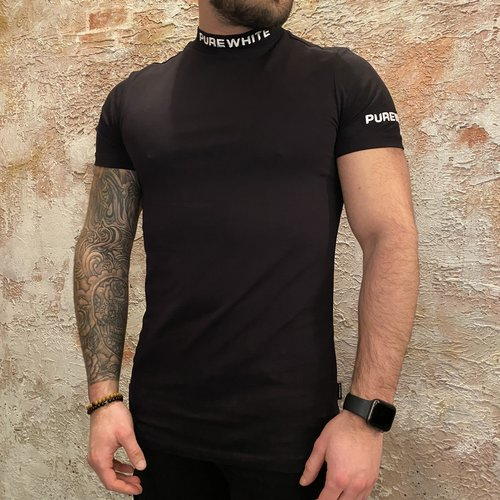 Purewhite T-shirt Logo Black