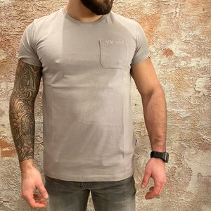 Airforce Chest Pocket tee grey