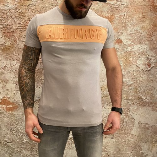 Airforce Emboss t-shirt Paloma Grey