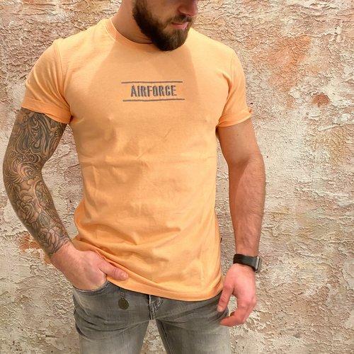 Airforce Line t-shirt peach