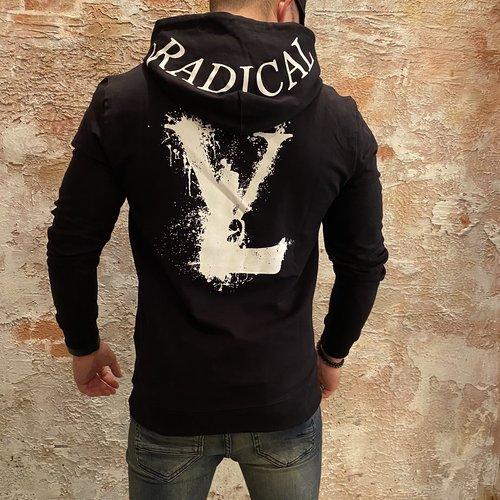 Radical Hoodie print rug zwart