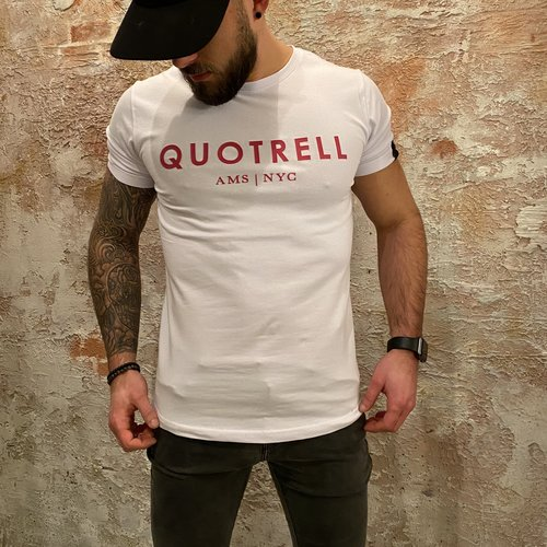 Quotrell T-shirt Red/White