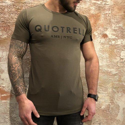 Quotrell T-shirtArmy Black