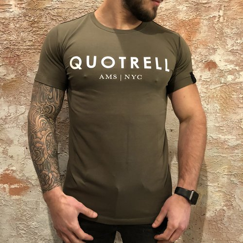 Quotrell T-shirt Army White